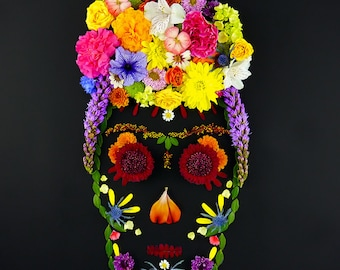 Frida From Beyond - Sugar Skull Candy Skull Giclee Print