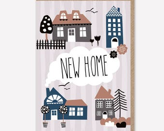 New home / Happy New home / Moving card