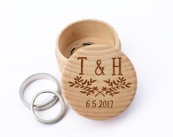Anillo de compromiso de la caja del anillo, boda caja de anillo, caja de anillo de compromiso, caja del anillo de boda, día de San Valentín propuesta caja, 02WG