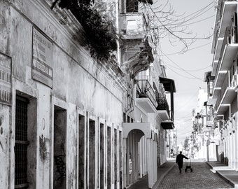Black & White Old San Juan photo prints