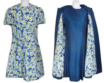Vintage 60's 3 Piece Set of Matching Dresses & Coat M