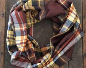 Plush flannel infinity scarf