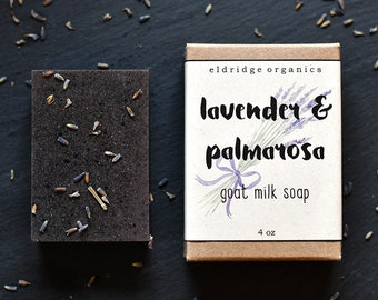 Lavender and Palmarosa Goat Milk Soap - Artisan Soap