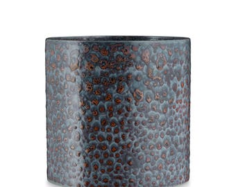 Petrol Ceramic Flower Pot by H. Skjalm P. - 14 cm