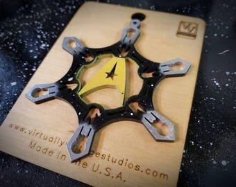 Star Trek Inspired Yellow Shirt Snowflake Ornament