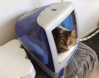 Recycled iMac Cat kitty condo bed