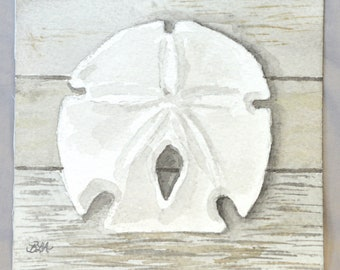 "Watercolor- ""Arrowhead Sand Dollar"""