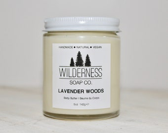 Lavender Woods Body Butter, Natural Body Butter, Vegan Body Butter, Handmade Body Butter