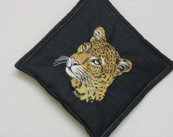 Leopard Embroidered Pot Holder