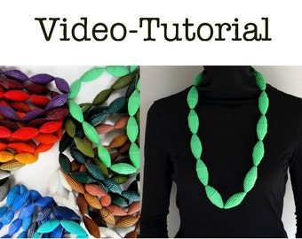 Video TUTORIAL for Necklace with Beads of corrugated cardboard