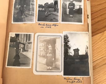 Old Scrapbook of France. Black and White photos