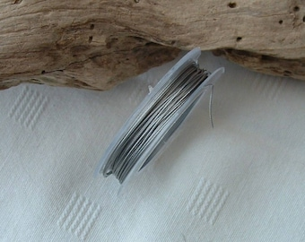 Steel wire Metal grey color diameter 0.38 mm for jewelry designs