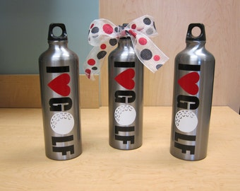 Personalized Golf Sports Team Waterbottles