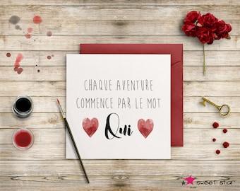 Love - marriage congratulations card