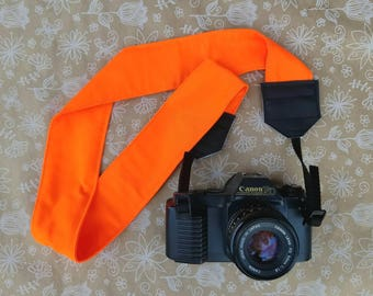 Camera Strap, Safety Orange Camera Strap, Outdoors, Camera Accessories, dslr Camera, Photographer Supplies, Neck Strap