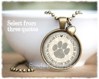 Loss of Pet Necklace • Dog Memorial • Pet Memorial Jewelry • Cat Loss Necklace • Pet Loss • Pet Remembrance