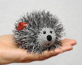 Gift for kids Toys Crochet hedgehog Plushie Stuffed Animal miniature pet crochet toys Baby gift Toddler gift Toddler toys woodland girl gift