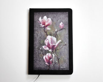 A5 No Lined Magnolia art printed notebook / journal GIFT by artist Renata Kraus