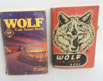 Set of two Vintage Wolf Cub Scout Books