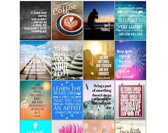 Printable Motivational & Inspirational Quotes Planner Stickers | Printable Stickers | Motivational Quotes | Inspirational Quotes (M-002)