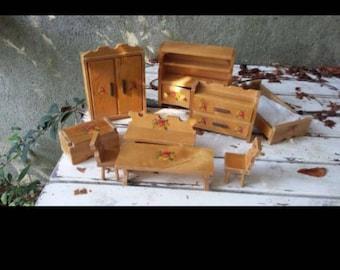 Vintage wooden furniture