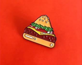 Food Pyramid Burger Pin