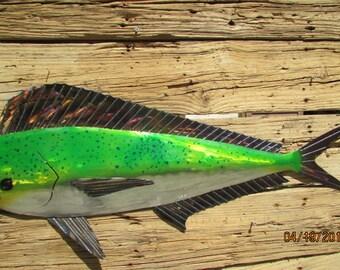 Mahi Mahi/ Dolphin/Metal Fish/Metal Art/Fine Art/Marine Life