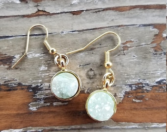 Light Mint Druzy Earrings