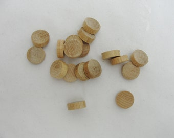 """50 Wooden .5"""" Circles, wooden discs, .5 inch wood disk,  1/2"""" wood disk 3/16"""" thick unfinished DIY"""