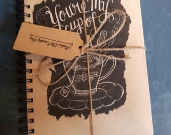Handcrafted notepad notebook