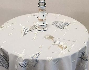 French Tablecloth, Coastal Tablecloth, Extra Large Tablecloth, Beach Tablecloth