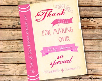 Once Upon A Time Thank You Cards | Free Custom Color | Matching Cards to Invite | Personalized Thank You's | Baby Shower Thanks (Set of 50)
