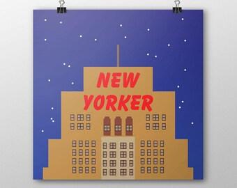"8x8 NYC ""New Yorker Hotel"" Print"
