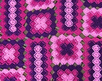 Crochet Blanket Pattern - Bavarian Lap Blanket / Afghan Crochet Pattern - PDF download