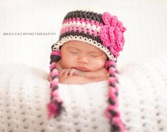baby hat, newborn hat, little girls hat, baby girl hat, crochet baby hat, newborn girls hat, girls, girls winter hat, crochet hat for girls