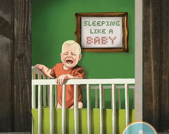 Sleeping Like a Baby: New Baby / Mother's Day / Father's Day / Mom / Dad