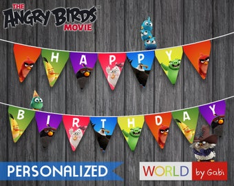 Digital Angry Birds Banner | Angry Birds Banner | Angry Birds Party | Angry Birds Birthday | Birthday Banner