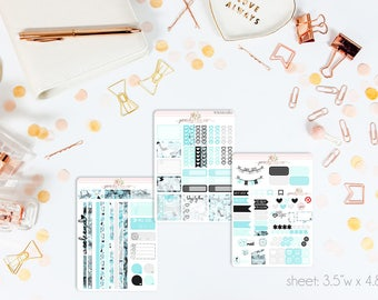 Audrey MINI Weekly Kit // 130+ Matte Planner Stickers // Perfect for your Personal Planner // WKM0280