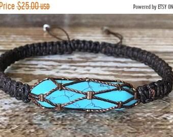 SALE Turquoise Bracelet / Raw Crystal Bracelet / Gemstone Bracelet / Healing Crystal Bracelet