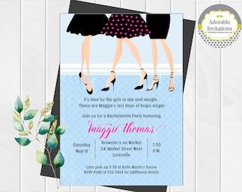 Bachelorette Party Invitation   Girls Night Out Invitation   Ladies Night Out Invitation   Little Black Dress Invitation   Printable