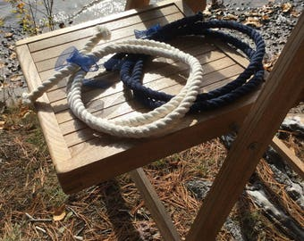 Unity Ceremony, Tied the Knot Wedding Ceremony Rope, 5ft Navy Blue, 5ft Cream, 3ft available, Knot Instructions,