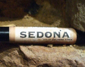 Solid COLOGNE Stick - SEDONA - sensual, rich scent by Man Cave Soapworks .99 shipping