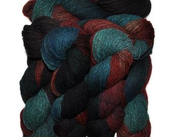 Hand dyed yarn - Alpaca / American wool yarn, Worsted weight, 240 yards - Cavillaca