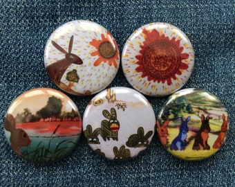"Watership Down | 1"" Button Pinbacks"