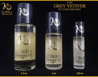 Type Grey Vetiver perfume in oil for men 1/3oz 1oz 1.7oz