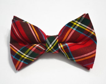 Christmas Bow tie Christmas Red and Green Plaid Bow Tie, boy bow tie, baby bow tie, adult bow tie, men's bow tie, tartan check bow tie