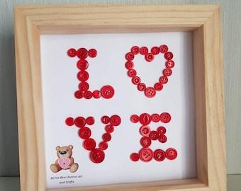 Framed love letter etsy