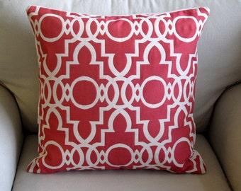 BERMUDA ROUGE  decorative designer pillow cover