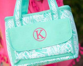 Palm Monogrammed Cooler Bag