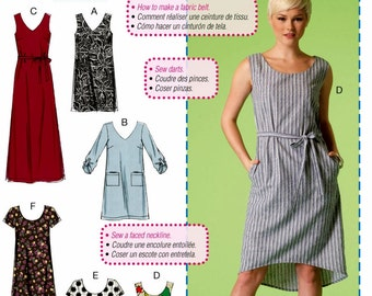 Sewing Pattern Dress Pattern, Learn to Sew Dress Pattern, Easy Tunic Dress Pattern, Casual Long Dress Pattern, McCall's Sewing Pattern 7120